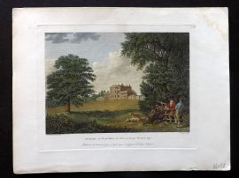 Angus 1792 HCol Print. Theobalds in Hertfordshire, the Seat of George Prescott